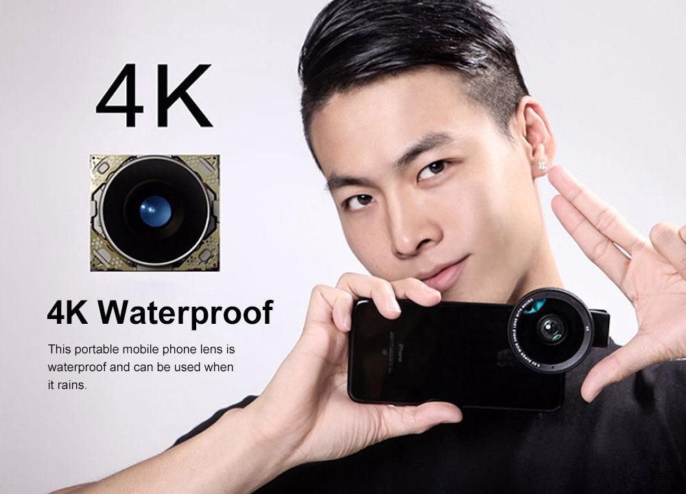 OKSENSE 4K Non-distortion Professional Mobile Phone Camera Lens Special Effect Lens Super Wide-angle Micro-range Camera Lens 2