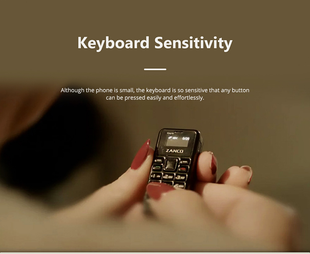 Zanco Tiny T1 Mini Cell Phone Black Technology Creative Lovely Little Gift Spare Cell Phone 4