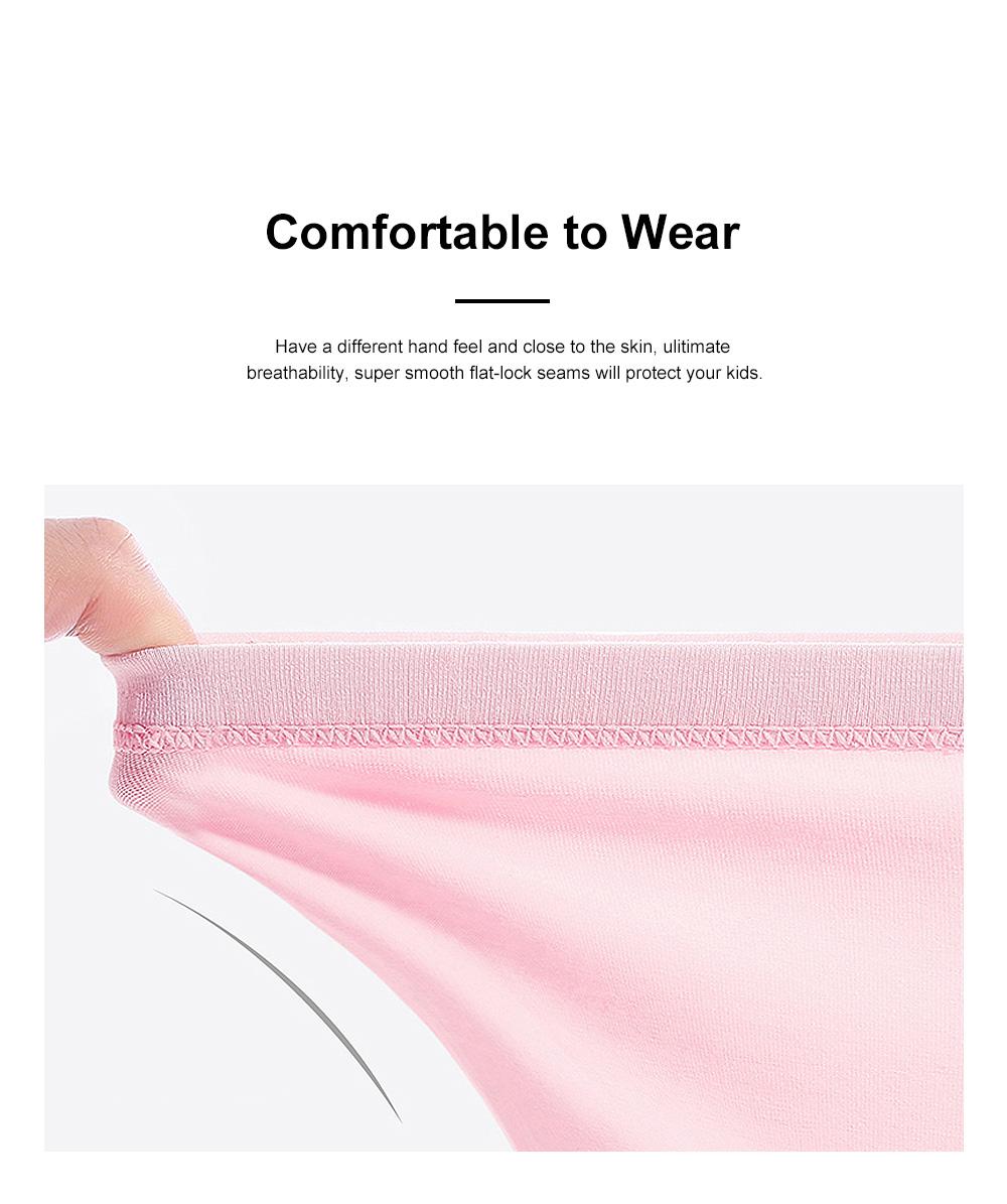 4pcs Girls Underwear Organic Cotton Boxer Briefs Cute Underwear Set for Girls 3-14 Years Old 2