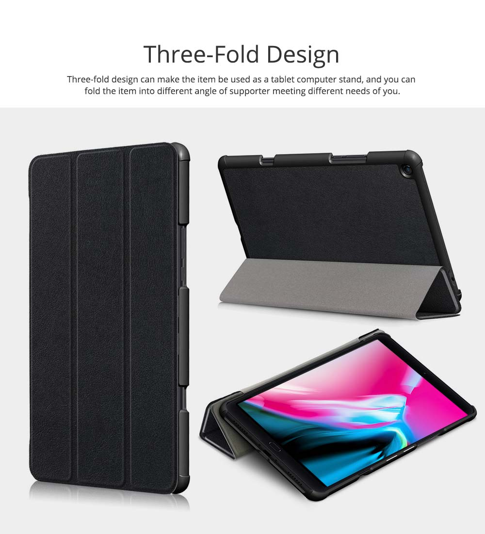 Functional 10.1'' Mi Pad 4 Plus Three Fold Protective Case, Scratch-Proof Skin-friendly Xiaomi Panel Computer Protection Cover Supporter 4