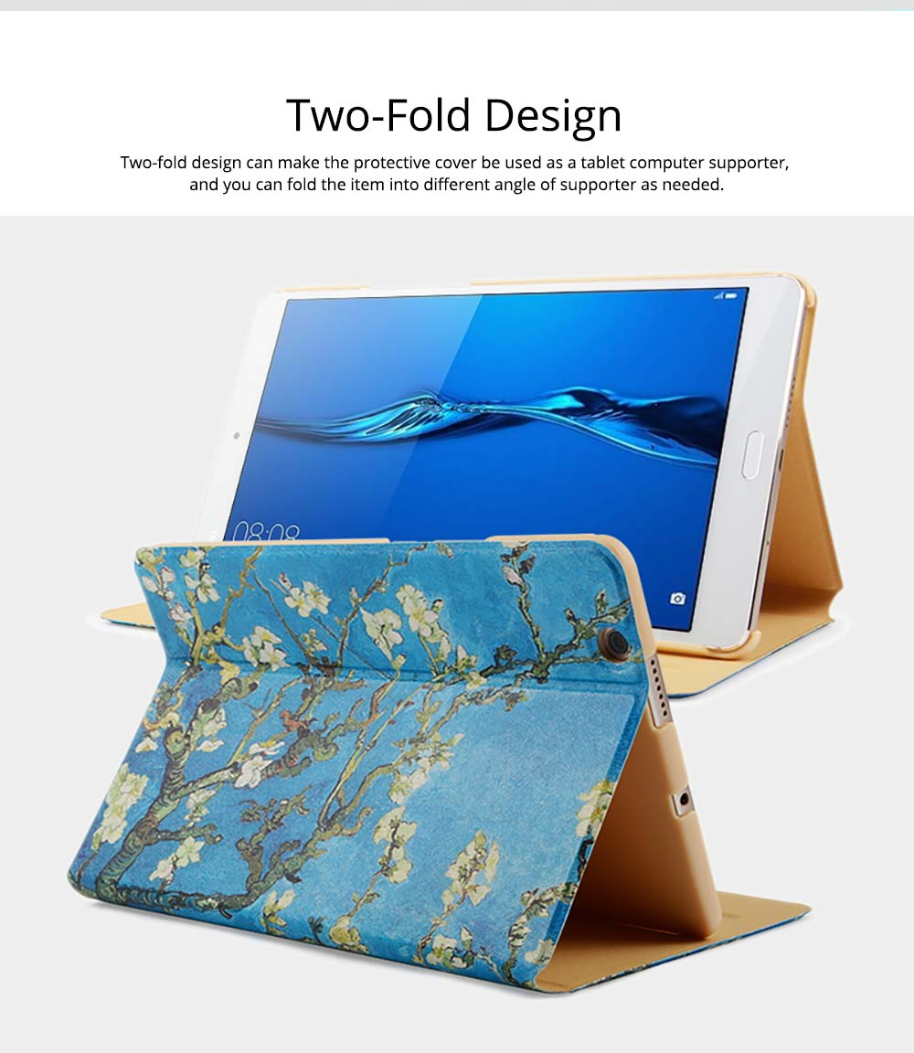 10.1 Inch Smooth Leather Breaking-proof Scratching-proof Xiaomi 4 Plus Protective Case Stylish Smart Full Protection Cover 3