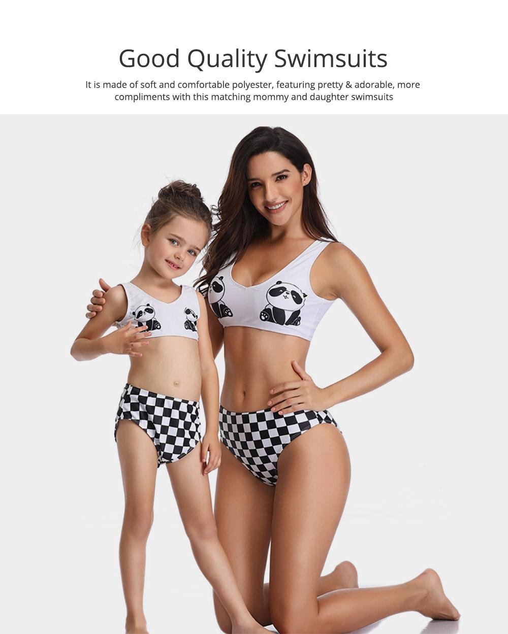 Panda Pattern Cute Mother and Daughter Swimming Suit Family Matching Swimwear 1