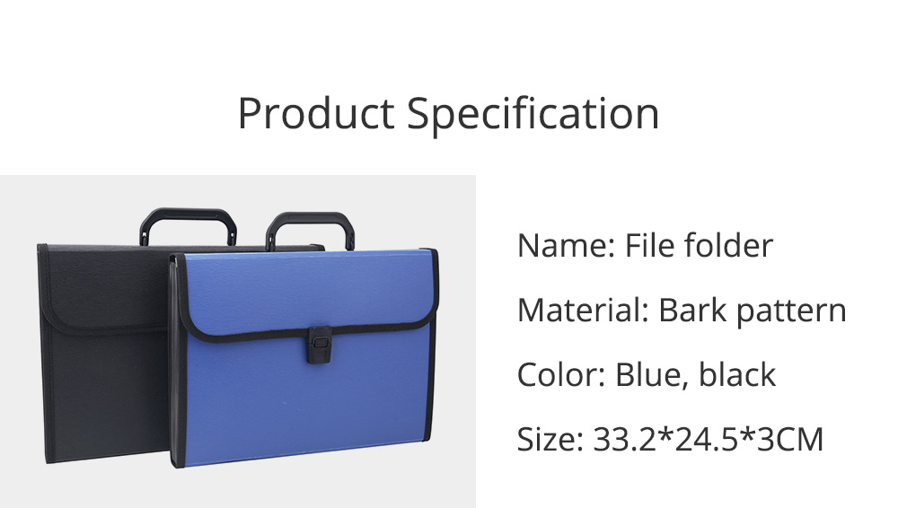 Portable Organ Shape File Folder with 13 Compartments Large Capacity Holder for Office School 6