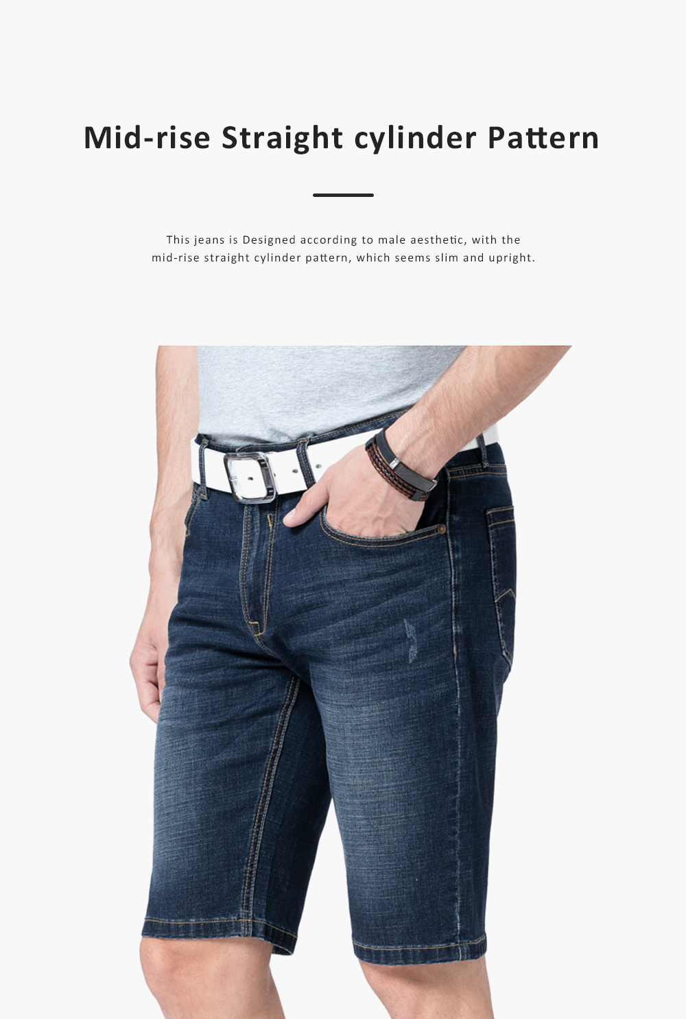 2019 New Leisure Style Loose Denim Shorts, Soft & Comfortable Thin Sports Mid-rise Jeans Pants 4