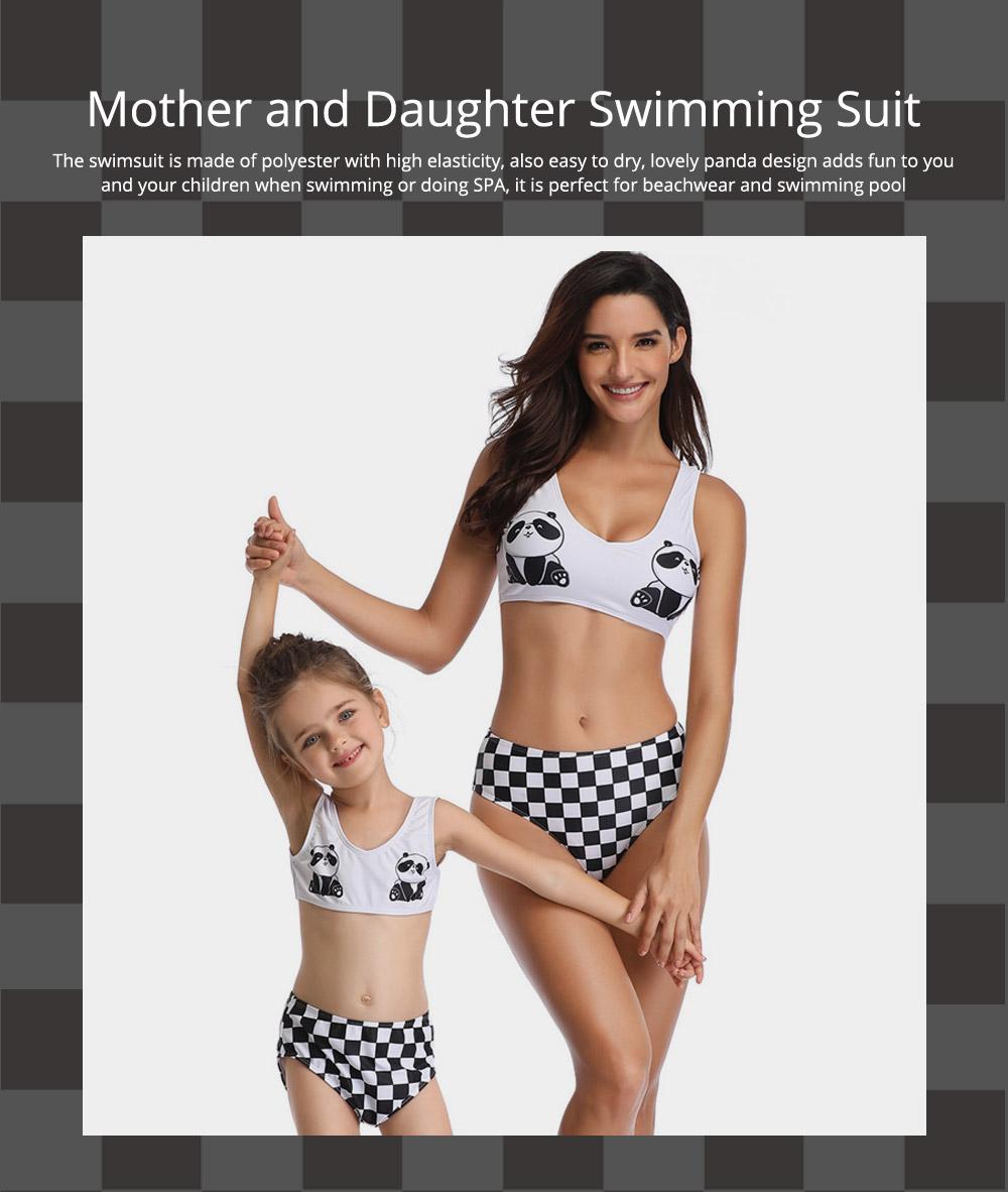 Panda Pattern Cute Mother and Daughter Swimming Suit Family Matching Swimwear 0