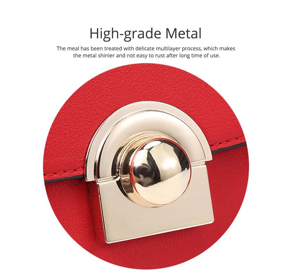 Smooth Scratching-poof PU Leather Women Shoulder Bag, Fashion Minimalist Casual Metal Shoulder Strap Magnet Buckle Bag 2