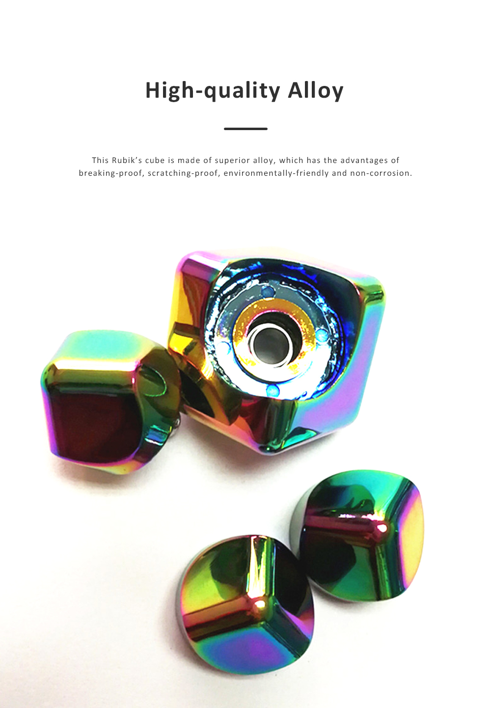 Small Delicate Colorful Laser Square Rubik's Cube Finger Spinner Fingers Coordination Training Fidget Toy Puzzle Game 1
