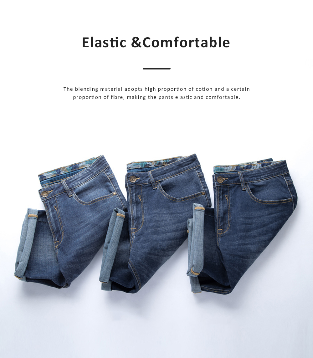 2019 New Leisure Style Loose Denim Shorts, Soft & Comfortable Thin Sports Mid-rise Jeans Pants 1