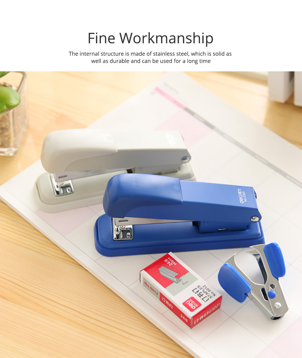 Practical Stainless Steel Stapler Set Included with Accessories Staples & Staple Remover 1