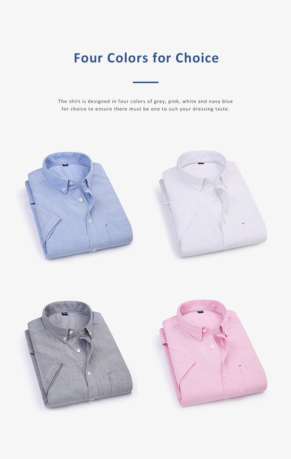 Pure Cotton Short Sleeve Shirt with Embroidered for Men's Daily Wear in Summer  Casual Style Simple Designed Pure Color Men Clothing 4
