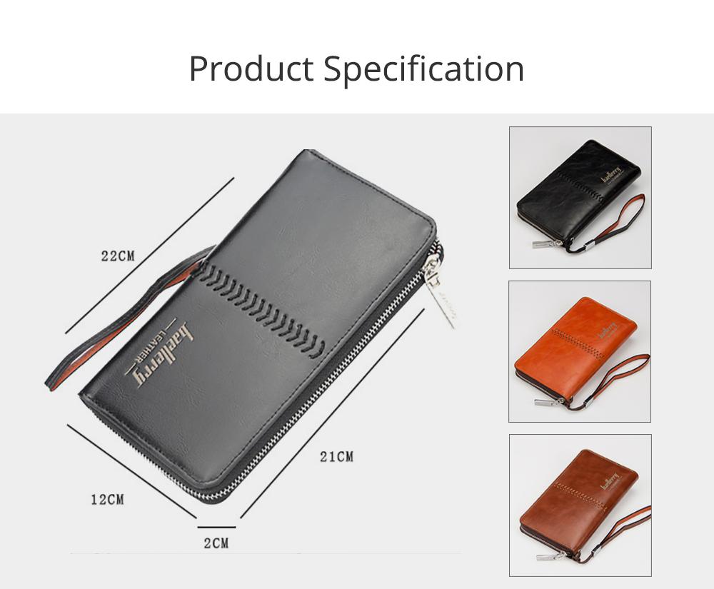 RFID Blocking Wallet Long Handbag Large Capacity PU Leather Clutch Bag Multi-Card Holder Organizer Phone Bag for Men 6