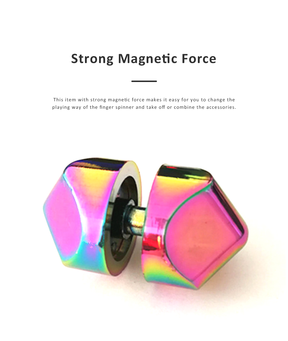Small Delicate Colorful Laser Square Rubik's Cube Finger Spinner Fingers Coordination Training Fidget Toy Puzzle Game 5