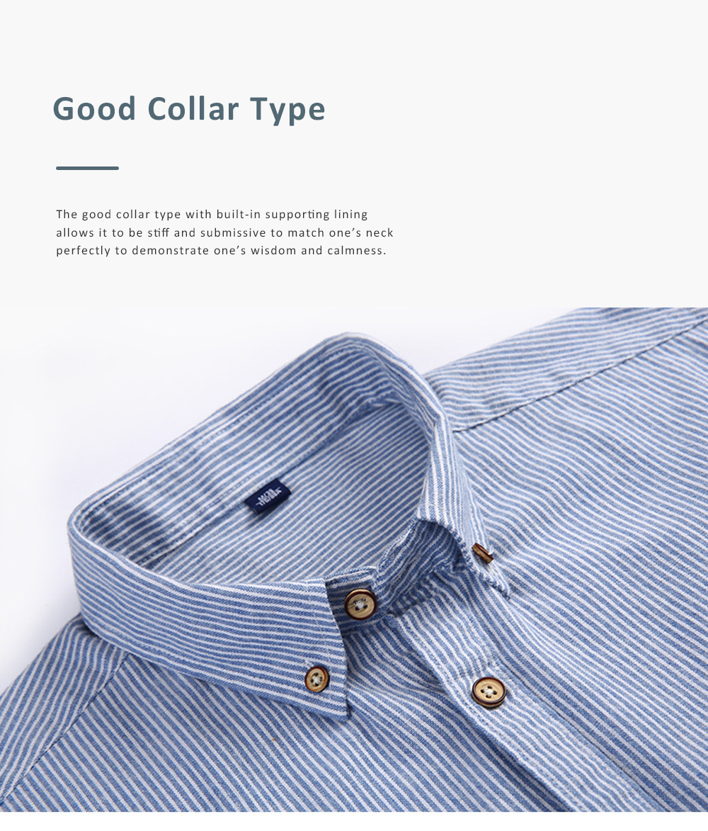Summer and Spring New Short Sleeve Man Tops Men's Clothing Pure Cotton Stripe Shirt for Men 2