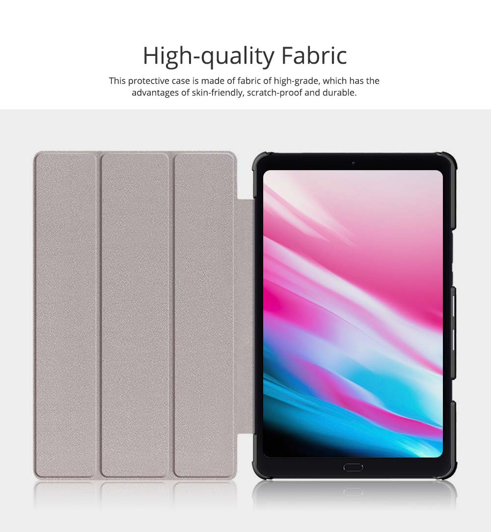 Functional 10.1'' Mi Pad 4 Plus Three Fold Protective Case, Scratch-Proof Skin-friendly Xiaomi Panel Computer Protection Cover Supporter 1