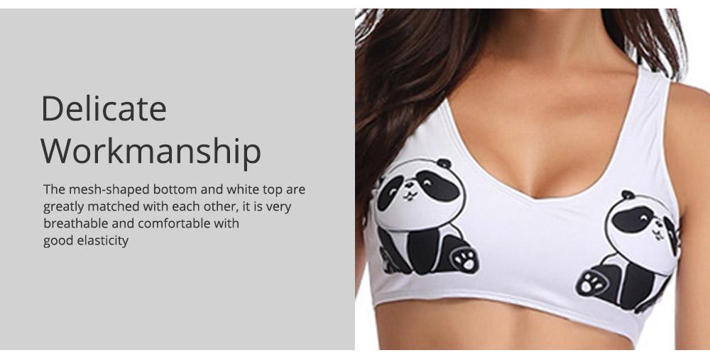 Panda Pattern Cute Mother and Daughter Swimming Suit Family Matching Swimwear 3