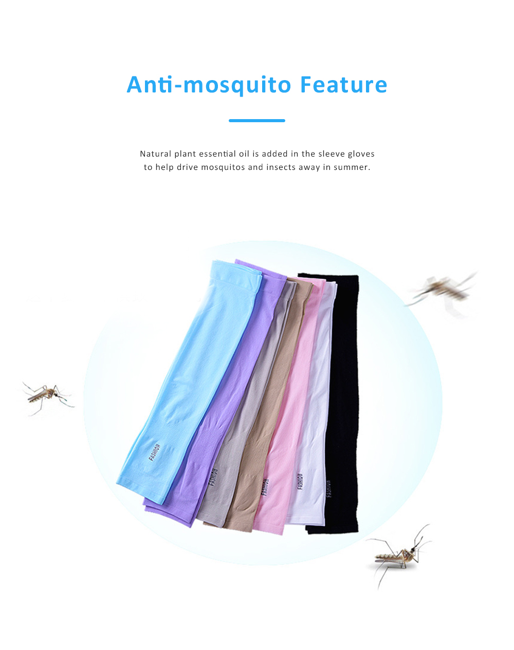 Anti-mosquito Ice Silk Sleeve Gloves for Unisex Wear in Summer Sun Block Sleeve Gloves for Riding Running Driving Ultraviolet Proof Mittens 1