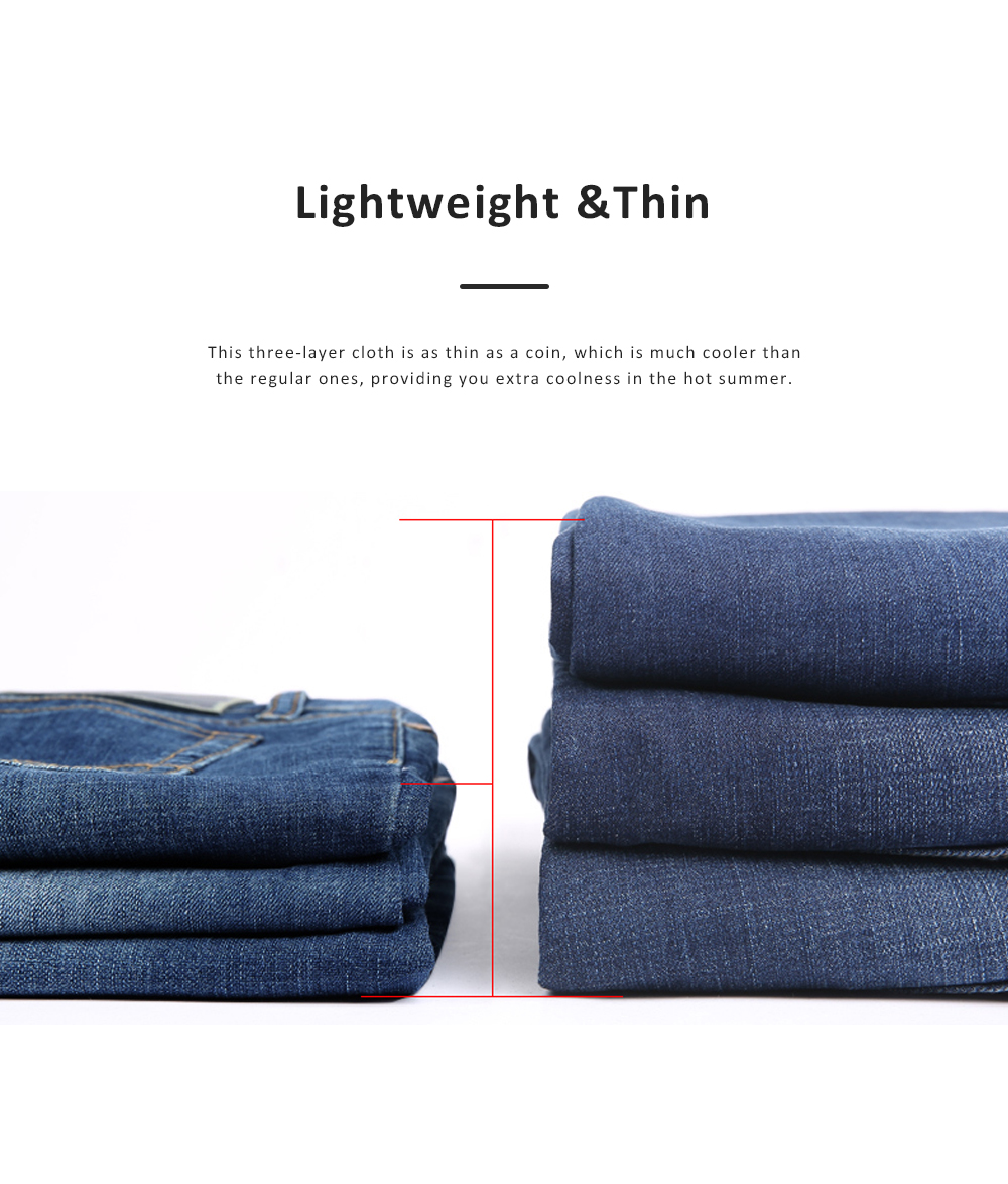 2019 New Leisure Style Loose Denim Shorts, Soft & Comfortable Thin Sports Mid-rise Jeans Pants 3