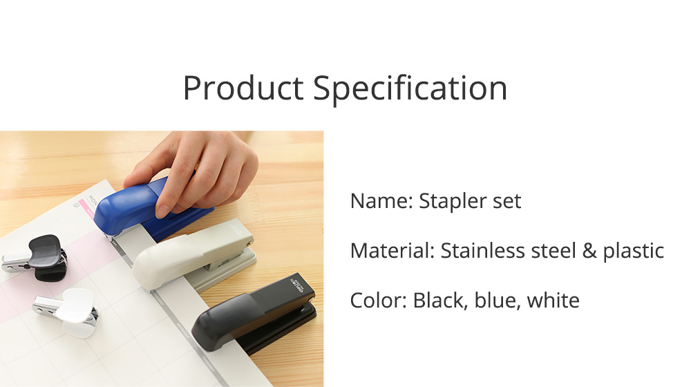 Practical Stainless Steel Stapler Set Included with Accessories Staples & Staple Remover 6