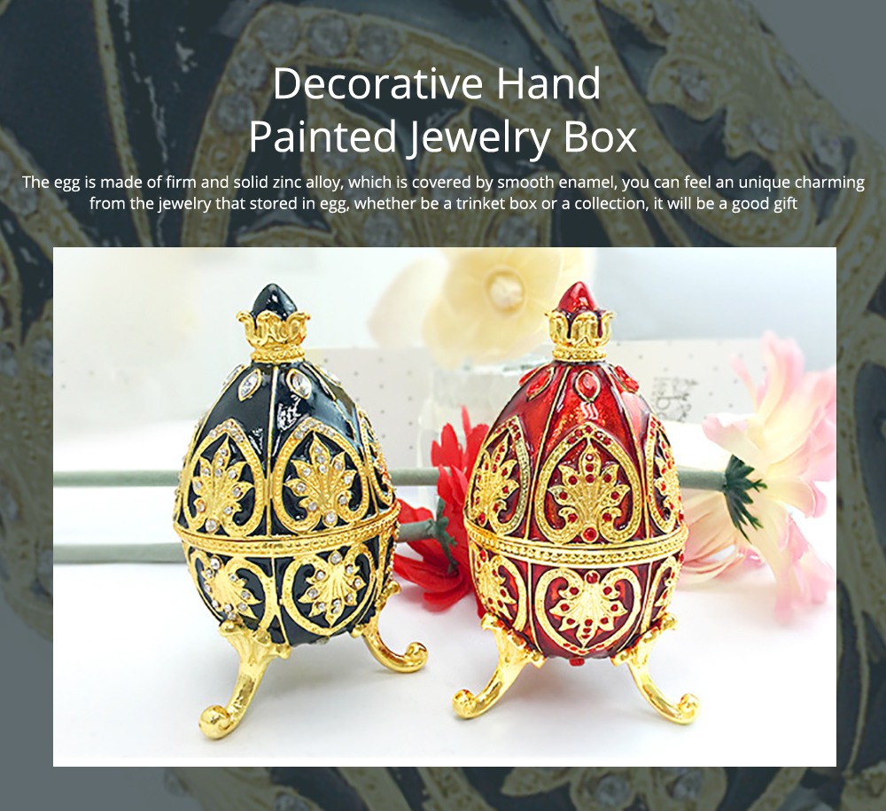 Decorative Hand Painted Jewelry Box for Home Decoration for Rings, Earrings & Jewelry 0