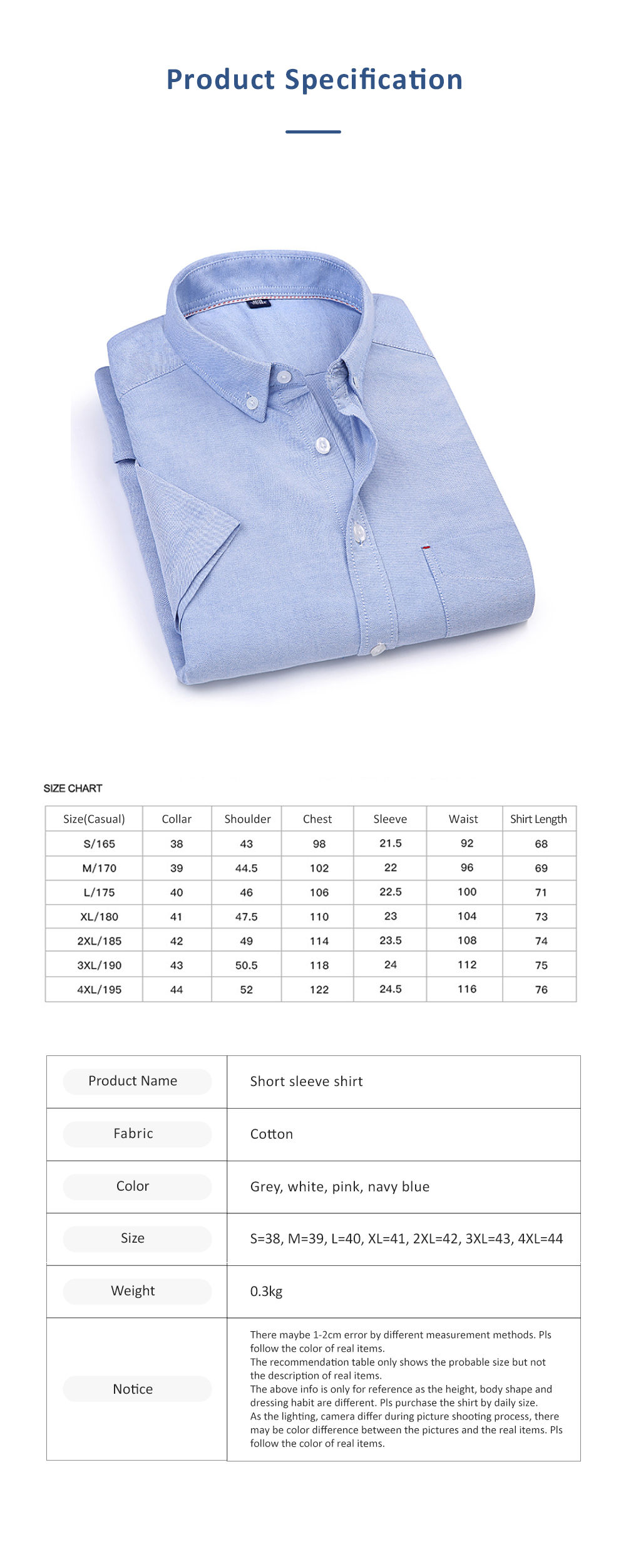 Pure Cotton Short Sleeve Shirt with Embroidered for Men's Daily Wear in Summer  Casual Style Simple Designed Pure Color Men Clothing 6