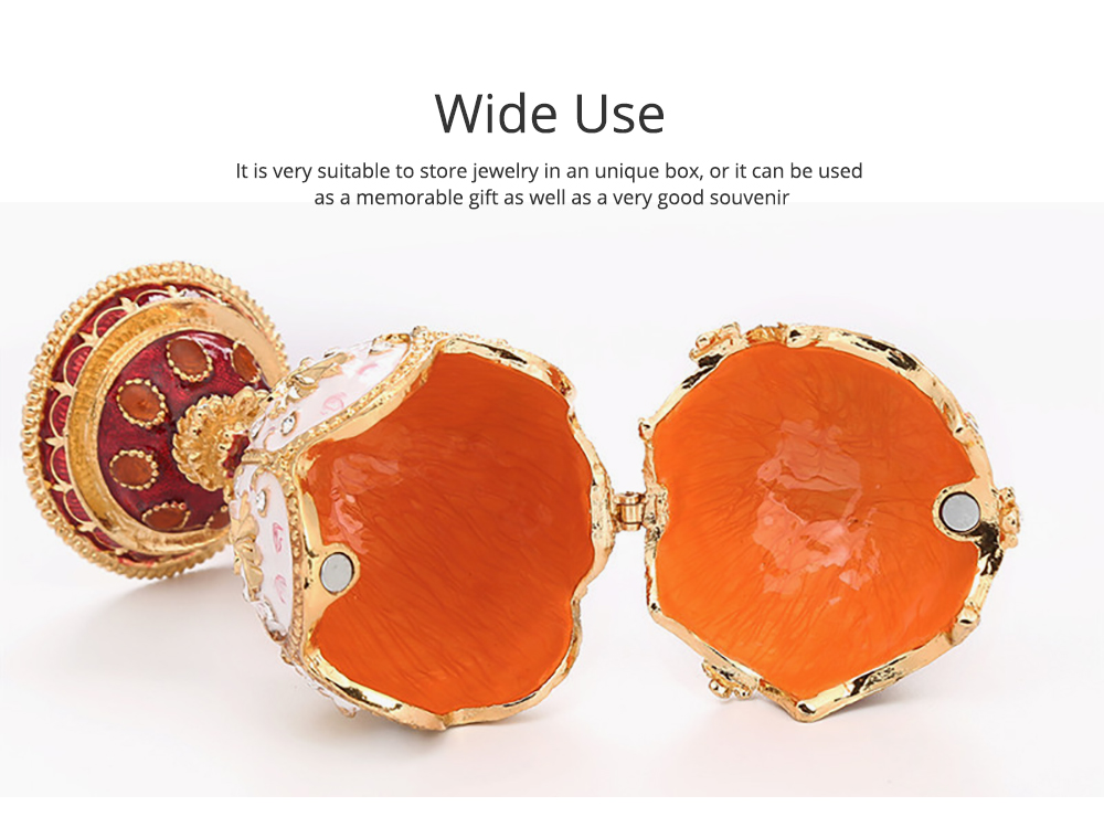 Unique Design Jewelry Trinket Box with Rich Enamel and Sparkling Rhinestones Perfect to Store Jewelry Luxurious Gift for Home Decor 4