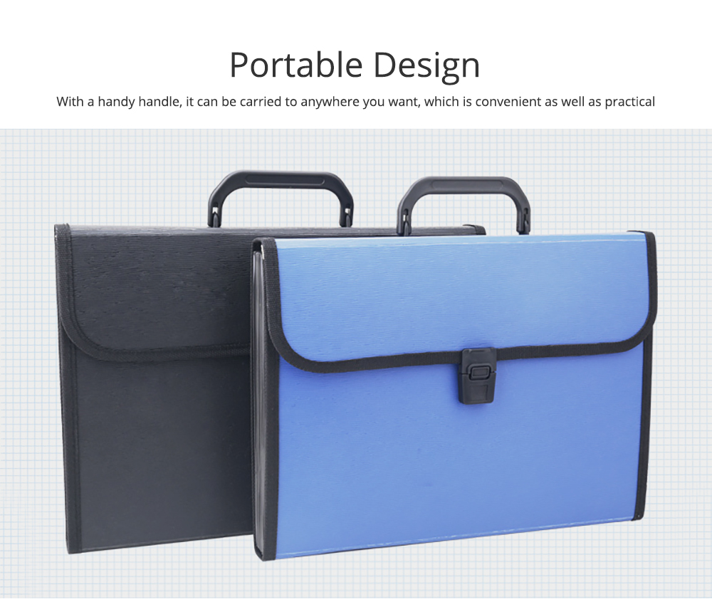 Portable Organ Shape File Folder with 13 Compartments Large Capacity Holder for Office School 2