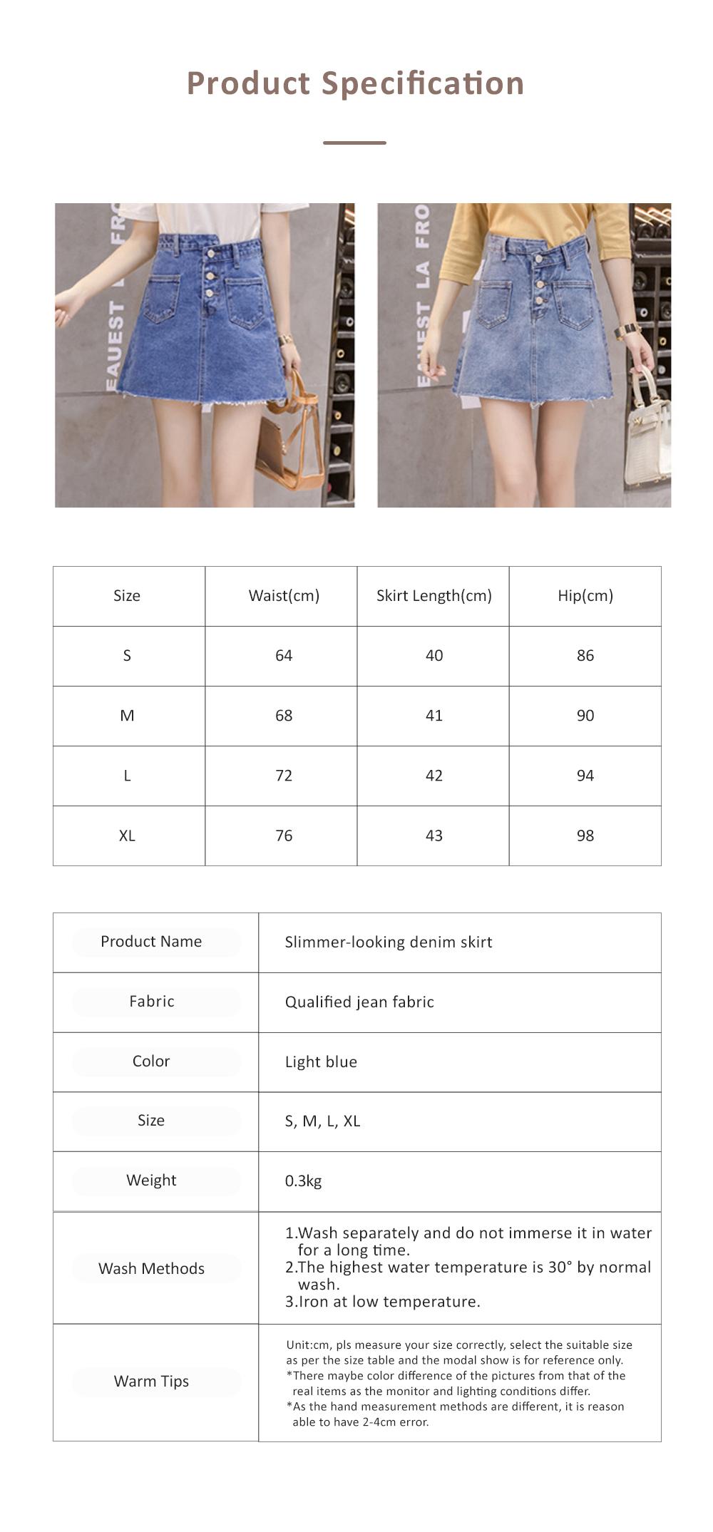 Close-fitting Irregular Denim Skirt for Women in Summer High-waisted Slimmer-looking Sheath Dress Hairy Brim Jean Midskirt Women Dress 6