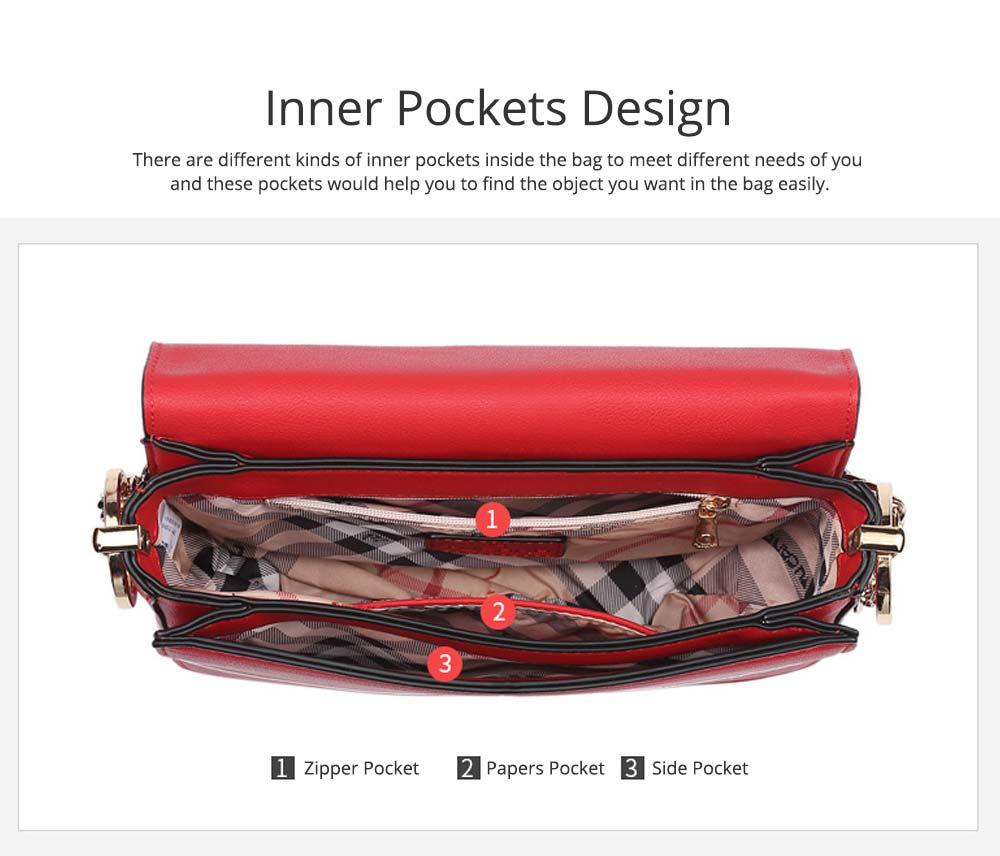 Smooth Scratching-poof PU Leather Women Shoulder Bag, Fashion Minimalist Casual Metal Shoulder Strap Magnet Buckle Bag 4