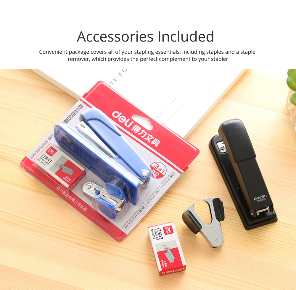 Practical Stainless Steel Stapler Set Included with Accessories Staples & Staple Remover 5