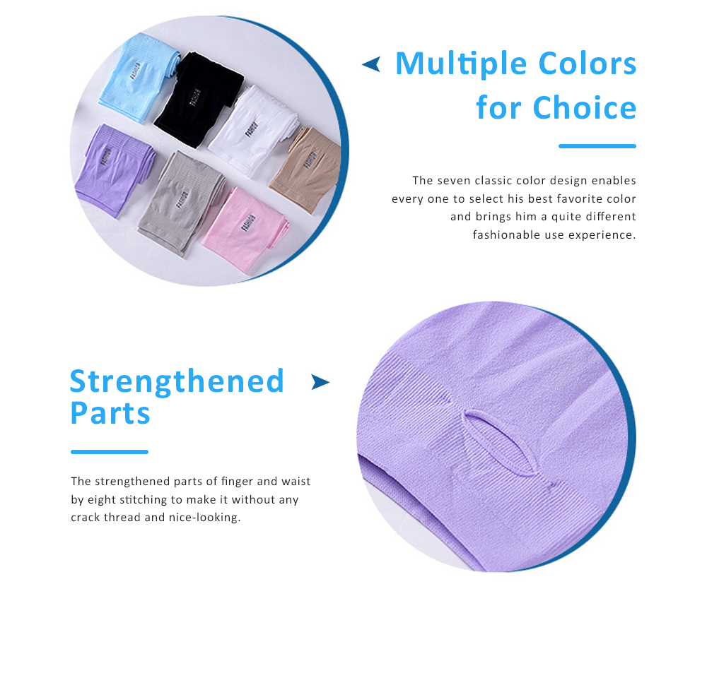 Anti-mosquito Ice Silk Sleeve Gloves for Unisex Wear in Summer Sun Block Sleeve Gloves for Riding Running Driving Ultraviolet Proof Mittens 4