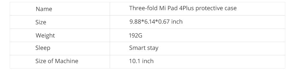 Functional 10.1'' Mi Pad 4 Plus Three Fold Protective Case, Scratch-Proof Skin-friendly Xiaomi Panel Computer Protection Cover Supporter 7