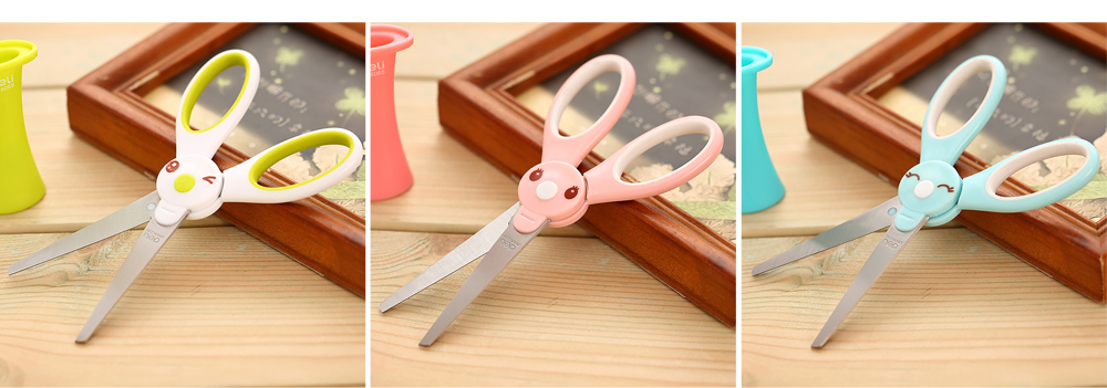 Student Scissor with Cute Rabbit Pattern Handwork Cutter with Magic Hat Shape Handle 6