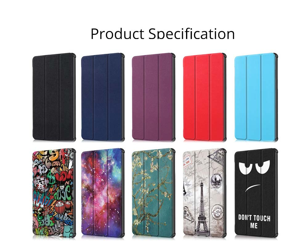 Functional 10.1'' Mi Pad 4 Plus Three Fold Protective Case, Scratch-Proof Skin-friendly Xiaomi Panel Computer Protection Cover Supporter 6