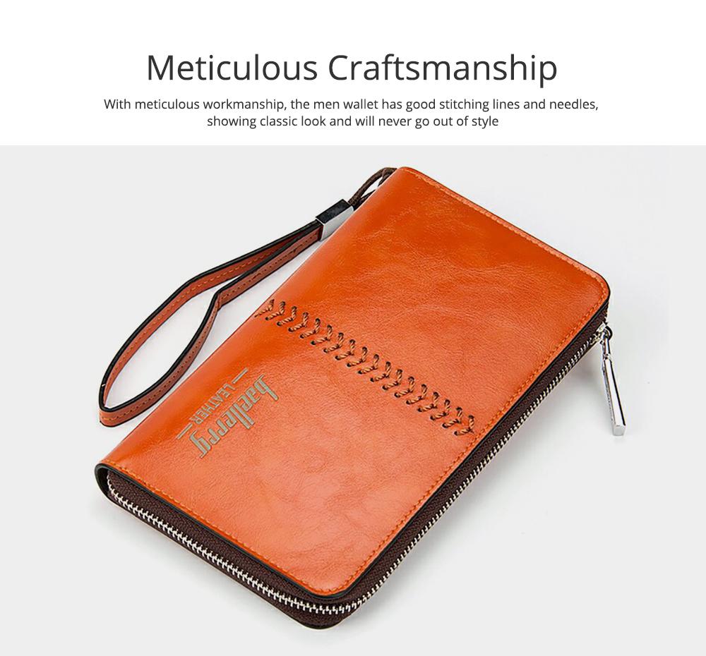 RFID Blocking Wallet Long Handbag Large Capacity PU Leather Clutch Bag Multi-Card Holder Organizer Phone Bag for Men 1