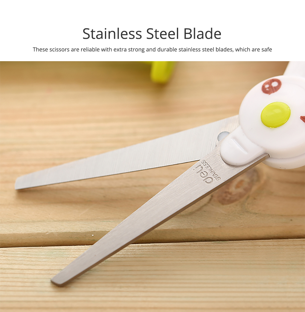 Student Scissor with Cute Rabbit Pattern Handwork Cutter with Magic Hat Shape Handle 2