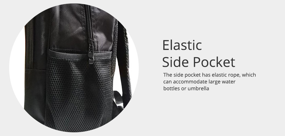 Student Backpack with Double Layer Large Capacity MJ Pattern Shoulder Bag With Elastic Side Pocket 4