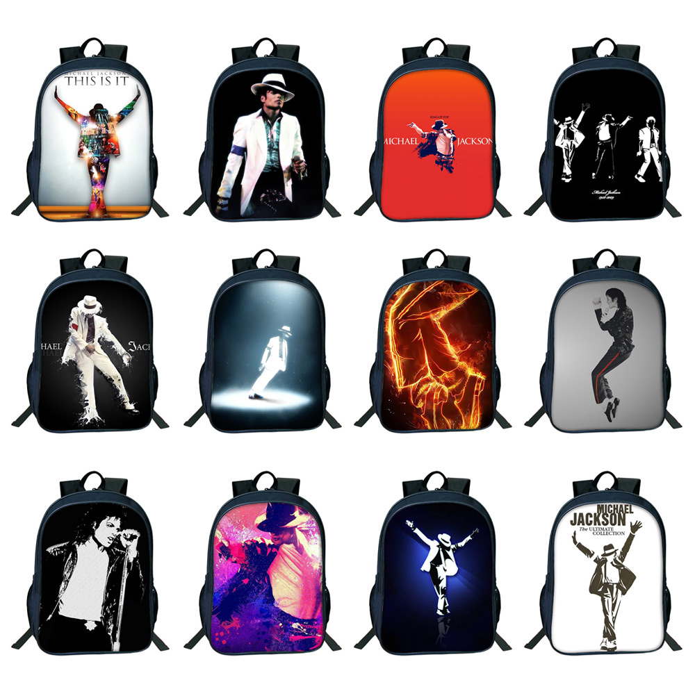Student Backpack with Double Layer Large Capacity MJ Pattern Shoulder Bag With Elastic Side Pocket 6
