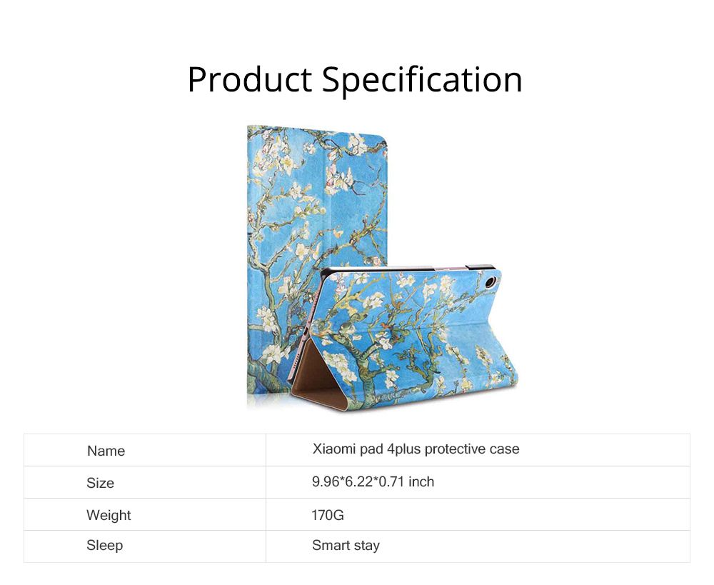 10.1 Inch Smooth Leather Breaking-proof Scratching-proof Xiaomi 4 Plus Protective Case Stylish Smart Full Protection Cover 6