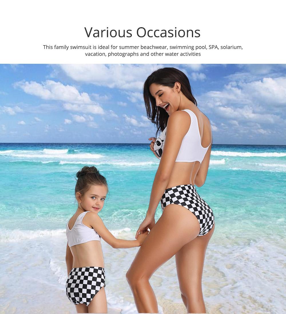 Panda Pattern Cute Mother and Daughter Swimming Suit Family Matching Swimwear 5