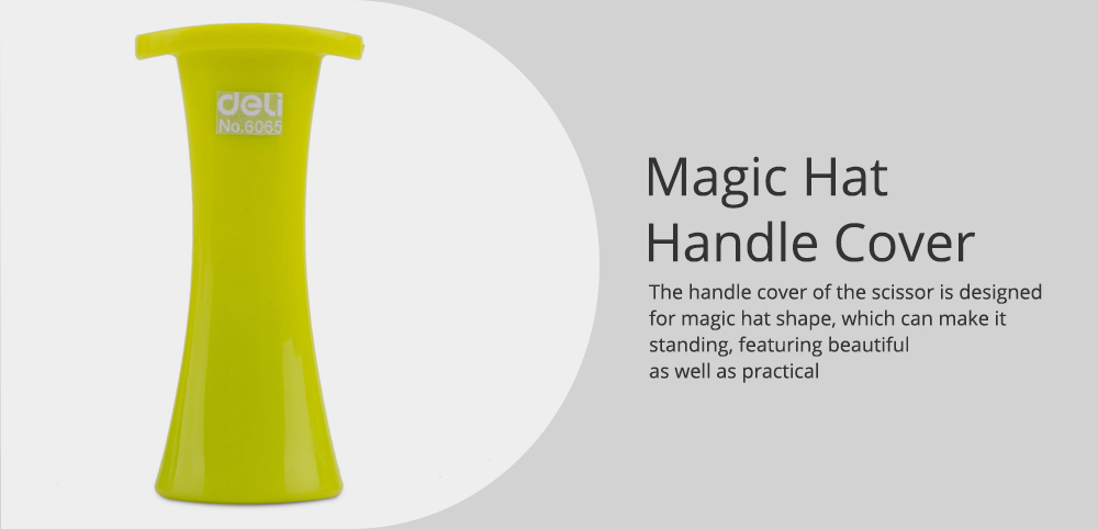 Student Scissor with Cute Rabbit Pattern Handwork Cutter with Magic Hat Shape Handle 4