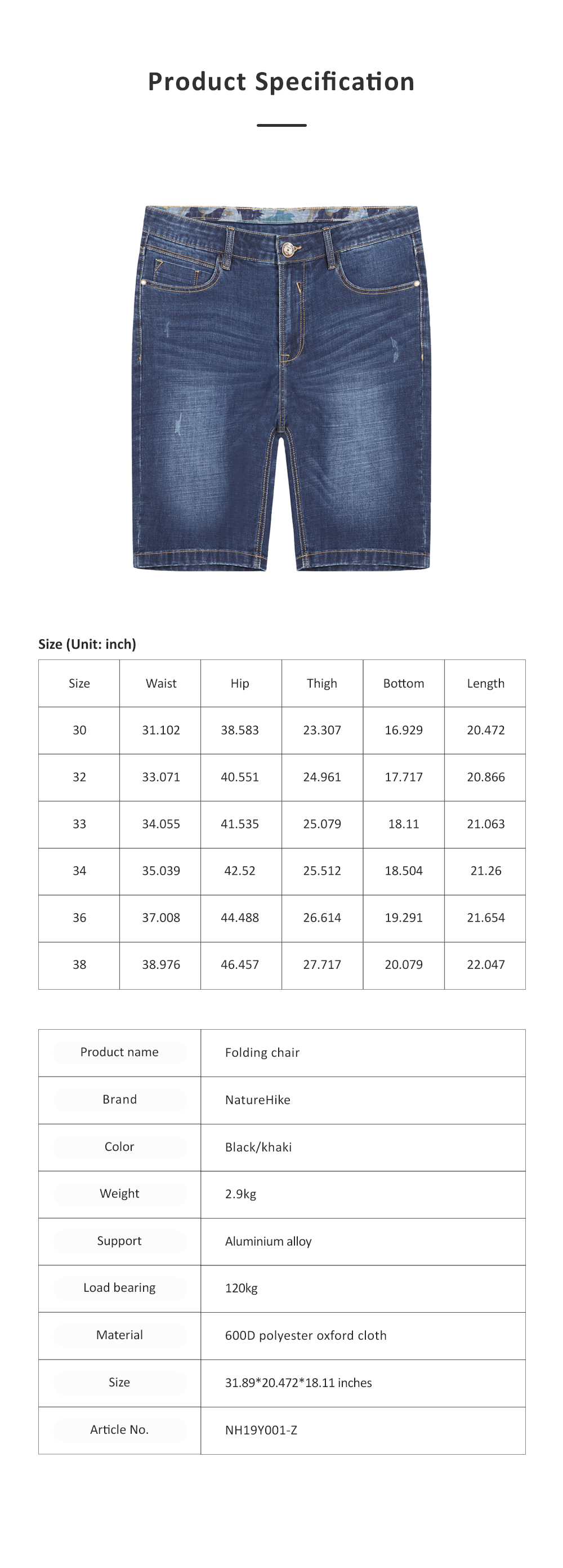 2019 New Leisure Style Loose Denim Shorts, Soft & Comfortable Thin Sports Mid-rise Jeans Pants 6
