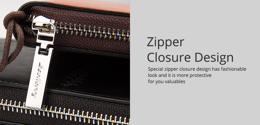 RFID Blocking Wallet Long Handbag Large Capacity PU Leather Clutch Bag Multi-Card Holder Organizer Phone Bag for Men 5