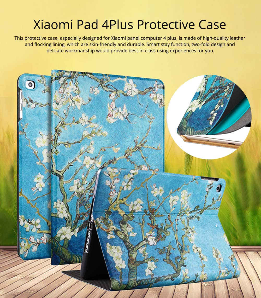 10.1 Inch Smooth Leather Breaking-proof Scratching-proof Xiaomi 4 Plus Protective Case Stylish Smart Full Protection Cover 0