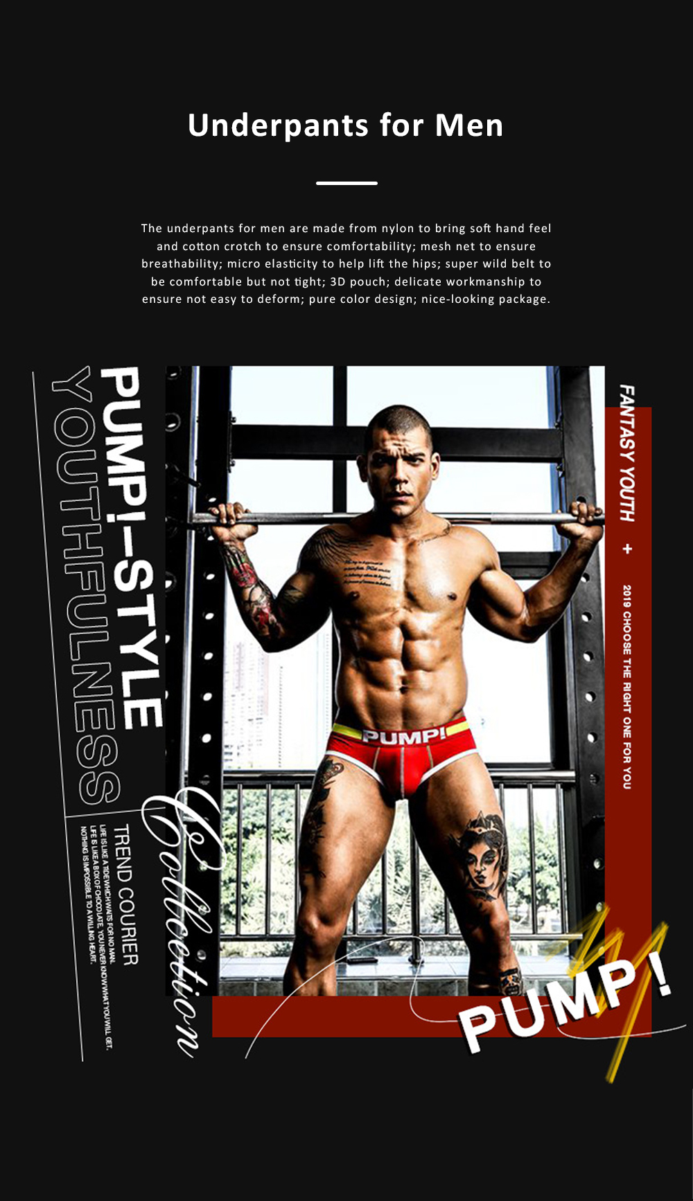 Mesh Breathable Underpants for Man's Daily Wear Sexy Briefs 100% Cotton Material Breathable briefs Underwear for Men 0
