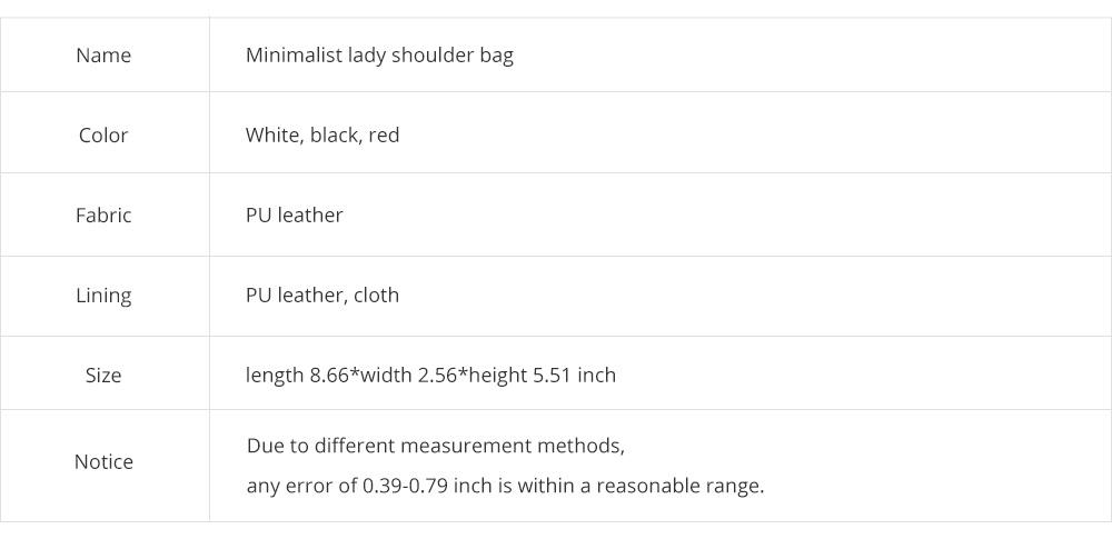 Smooth Scratching-poof PU Leather Women Shoulder Bag, Fashion Minimalist Casual Metal Shoulder Strap Magnet Buckle Bag 6