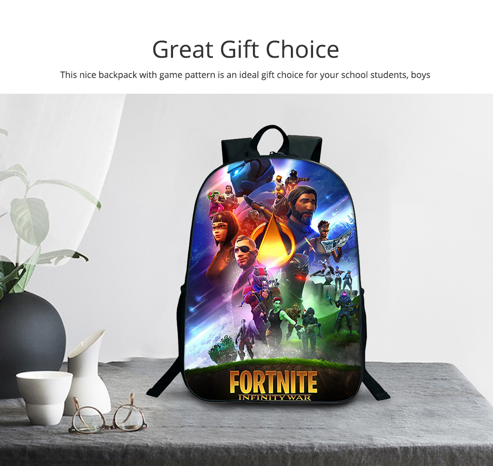 Water-Resistant School Backpack Polyester Student School Bag for Travel Outdoor Camping 5