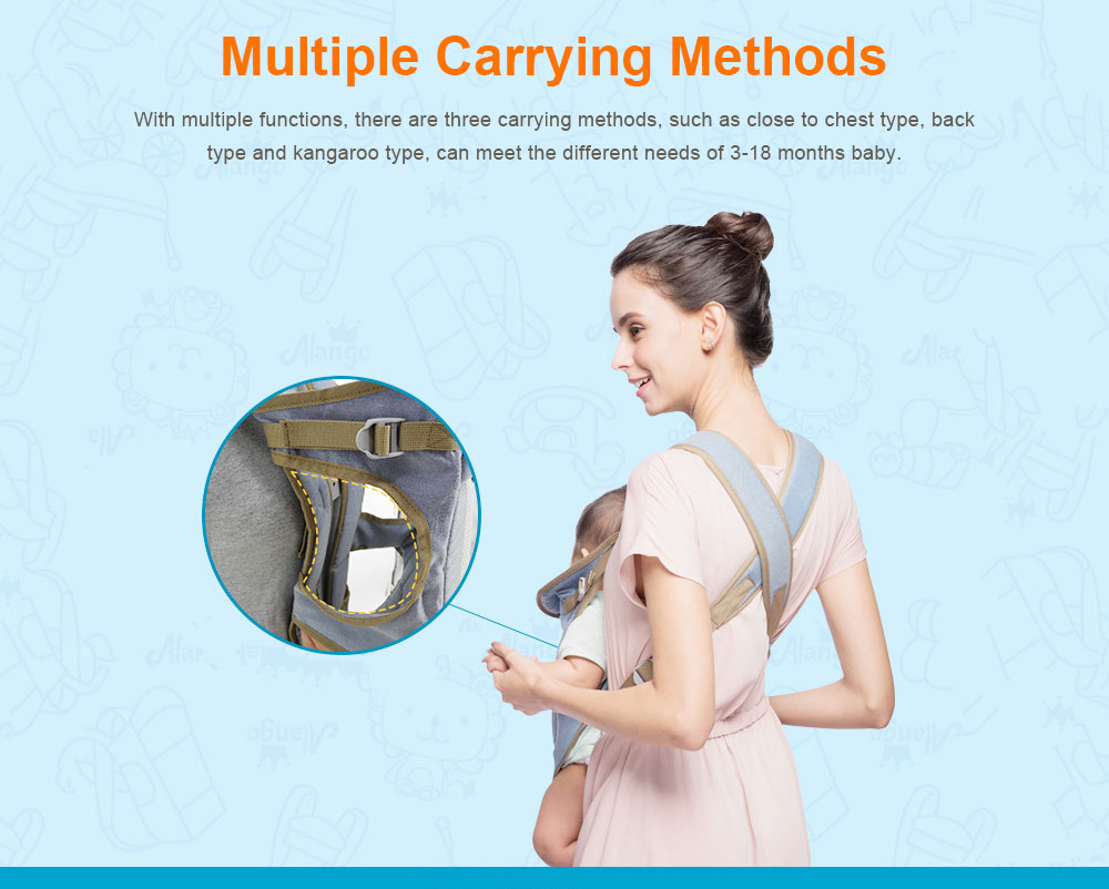 Multiple Functions Baby Carriers, WindproofDust-proof Infant Carrier Toddler Product Suitable for 3-18 Months Baby 4