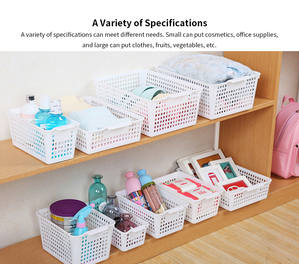 Plastic Storage Basket, Hollow Large Children's Toy Storage Basket, Kitchen Vegetable Storage Basket, wholesale 4