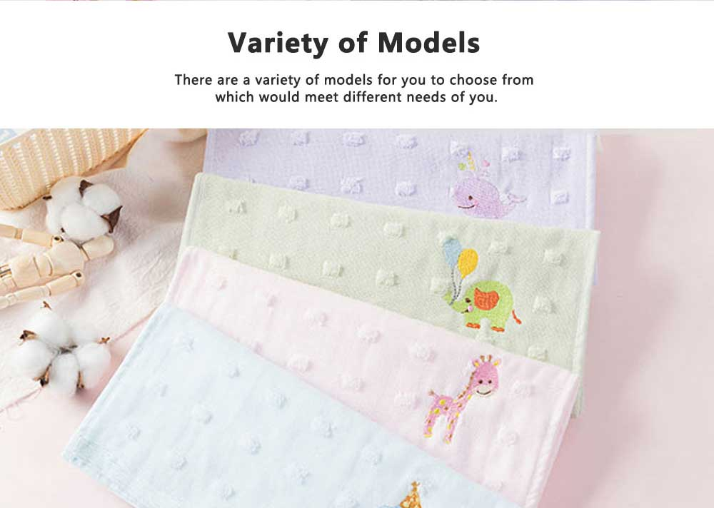 Cute Cartoon Baby Gauze Towel, Absorbent Cotton Baby Bath Towel, Soft Handkerchief Towel for infants, Face Washing Towel for Kids 5