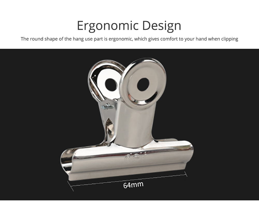 All-Purpose Heavy Duty Stainless Steel Metal Clip Holder with Strong Elastic Spring for Food 5